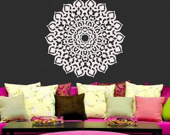 Wall Decals Mandala Om Sign Decal Yoga Sticker Vinyl Decals Wall Decor Murals Z359