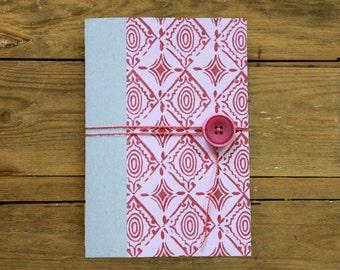 handmade notebook, oriental red
