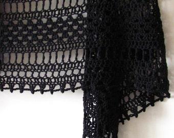 Grafika - Crocheted Shawl - Handmade Accessory - Ready To Ship