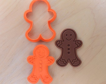 Gingerbread Man Cookie Cutter and Stamp Set