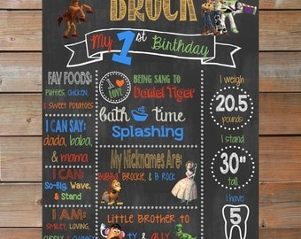 Toy Story Themed Chalkboard Sign - Personalized and Printable