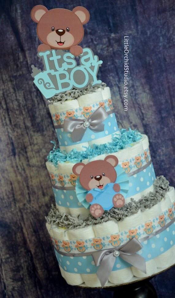 Items Similar To It S A Boy Baby Boy Diaper Cake Bear
