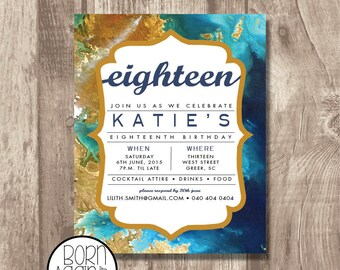 Teen Modern Birthday Invitation