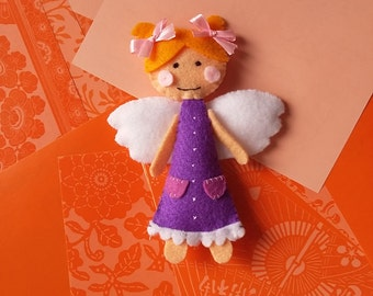 Angel-PDF pattern, instant download, felt sewing patters, handsewing, DIY, sewing crafts, no. 01