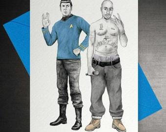 Spock & Tupac Card
