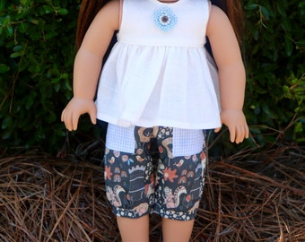 AG Doll Linen Shirt and Capri Set