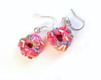 Donut Earrings, Food Jewelry
