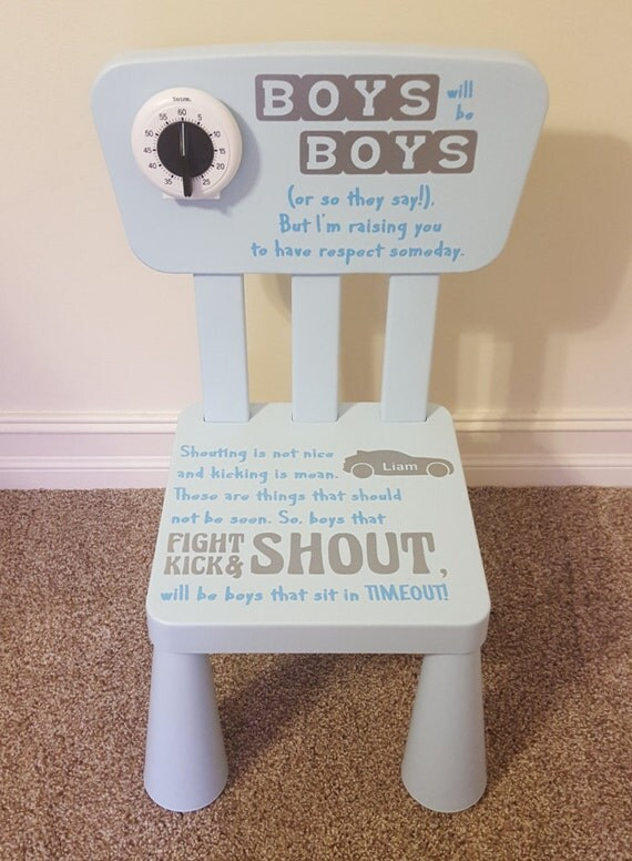 Time out chair boys personalized children timeout for Kids chairs for boys