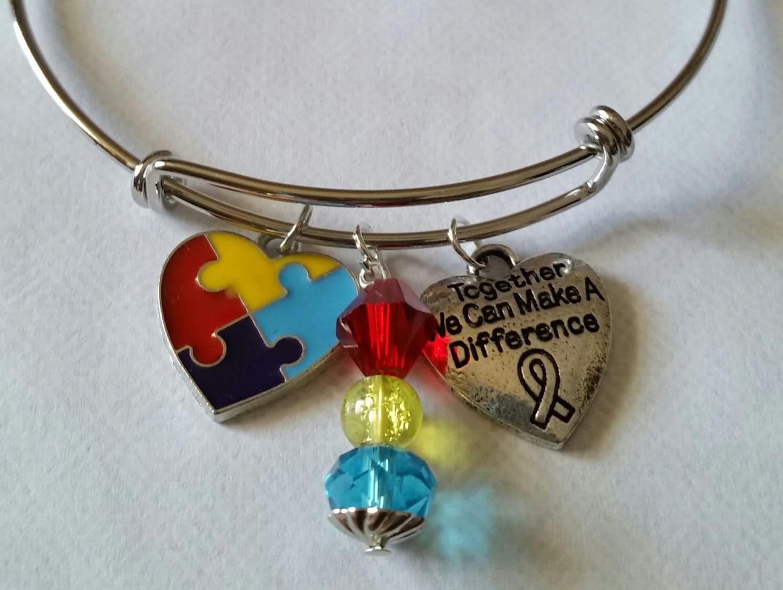 autism jewelry autism awareness bracelet by