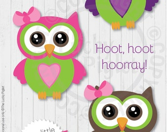 OWL DECORATIONS, Owl Party Decorations, Owl Baby Shower Decorations, Owl Party Printables, Centerpieces - Instant Download, Print and Cut