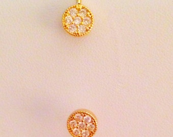 Gold Circle Pave