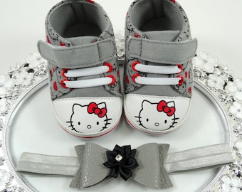 Baby Girl Sneaker and Headband Set, Newborn Baby Girl Shoes, Baby Accessories, Shower Gift, Gift for Baby