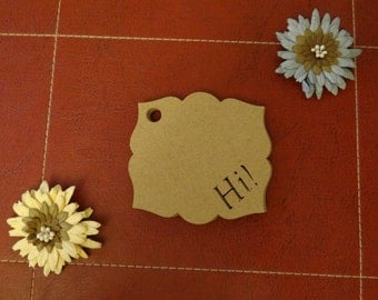 30 Hi Tags - Gift Tags, Favor Tags, Scrapbooking