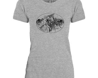 Mintage Women in the Field Womens Fine Jersey T-Shirt
