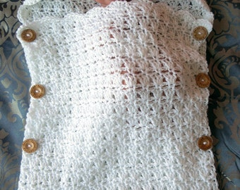 Crochet PATTERN Baby Sleeping Bag Quick and Easy 2 Skein Project