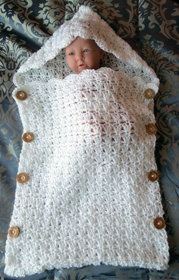 Crochet PATTERN Baby Sleeping Bag Quick and Easy 2 Skein