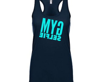 Gym Selfie Tank Top, Gym Shirt, Workout Clothes for Women Workout Tank Top Running Tank Weight Lifting Tank