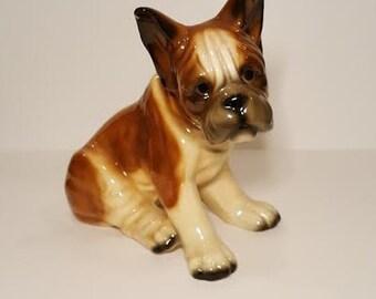 Vintage UCGC Large Ceramic Boxer Puppy Figurine