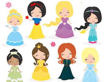 Fairytale Princess clipart, Fairytale clipart, Princess clipart, Castle, Princess, Fairytale, Clip Art, Commercial License Include