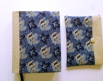 Handmade Journaling Bible Cover with matching zipper pouch