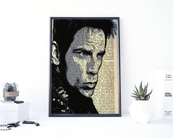 Zoolander Print, Movie Poster Art, Ben Stiller, Zoolander 2 Poster, Movie Wall Art, Poster Art, Dictionary Poster, Derek Zoolander
