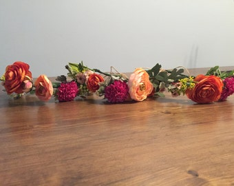 Boho flower crown-free shipping!