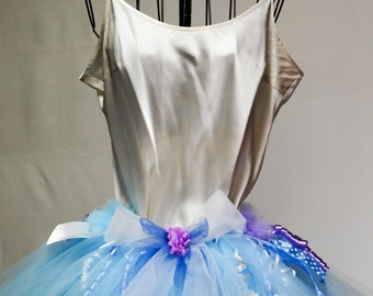 READY TO SHIP...Blinged -Out baby blue ribbon skirt...Pick your color and bling up your own