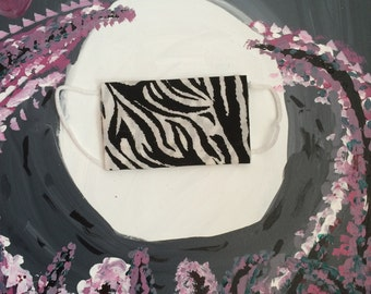 Moonlit Series: Black and White Zebra