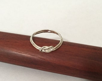 Sterling Silver Double Love Knot Ring- Size 9