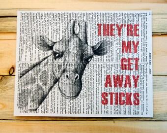 Giraffe Dictionary Print