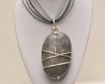 Beautiful Beach Pebble Necklace