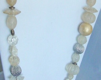 """Vintage Necklace 28"""" Wild Array of Beads"""