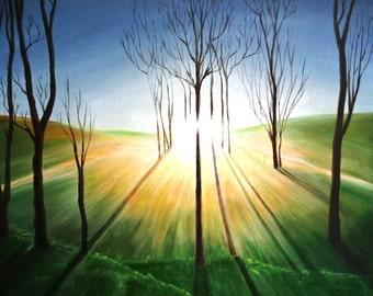 Prathyasha - Award winning Painting  original from artist,100% hand-painted