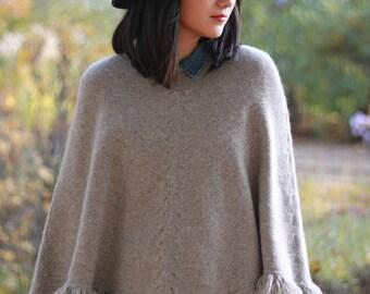 Cape / poncho yak wool yak wool