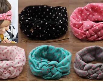 CLEARANCE  Polka Dot Knot Headband (Multiple Colors)
