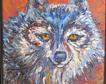 Cunning Coyote Painting, Wildlife, nature, coyote, animal painting, coyote painting, 11x14