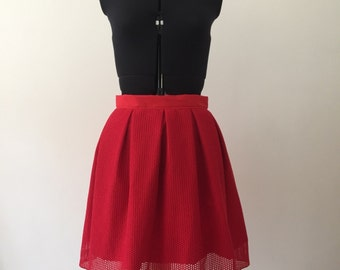 Skirt ball red lace mesh