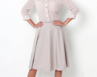 Beige handmade skirt