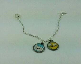 Adventure Time Finn Jake The Dog - Charm Bracelet