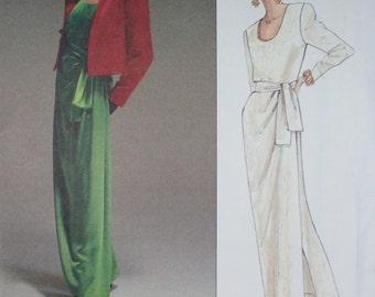 Yves Saint Laurent Jacket, Dress & Sash Pattern from Vogue Paris Original - Sizes 14-16-18