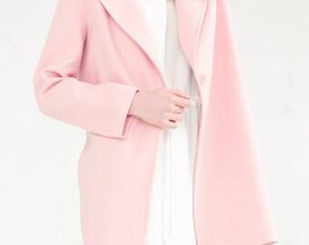 Spring pink coat / rose quartz coat