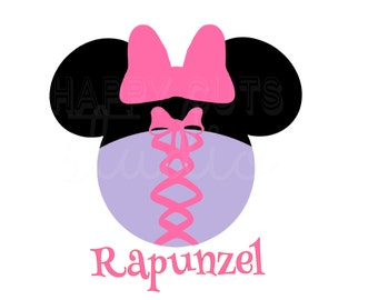 Rapunzel Minnie Mouse Vinyl Iron On Decal Disney Vacation Princess  Party Matching Mother Daughter Disney Iron On Decal Vinyl for Shirt 096