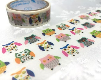 Owl Masking tape 3M owl sticky tape baby owl cute bird sticker washi tape owl decor removable adhesive tape scrapbook planner sticker gift