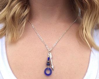 Arrow Necklace & Semi-Precious Stones