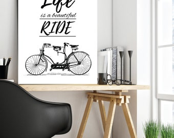 Vintage Bike, Bike Print, Bicycle Art, Cycling, Bike Accessories, Bicycle Wall Art, Cycling Art, Cycling Poster, Gifts for Cyclists, Gift
