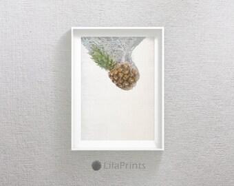 Pineapple Photo, Tropical Print, Fruit Print, Pineapple Wall Art, Pineapple Wall Print, Pineapple Print Art, Fruit Art, Kitchen Wall Decor