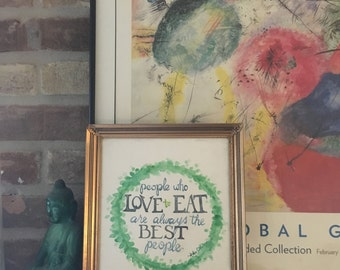 Julia Child Quote Watercolor ON SALE