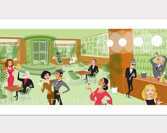 Retro Scene, Museo cochice, Spanish Bar, Ava Gardner, Dalí, Frank Sinatra, Lola Flores, Hemingway, Bette Davis, Sofia Loren, Spain years 60