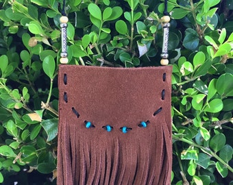 Fringe Pouch Necklace