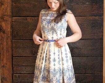 Cotton Abstract Dress, Designer Dress, Light Dress, Summer dress, Bridesmaid dress